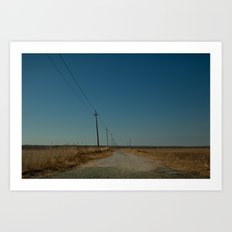 Road to the Bridge to Nowhere, Stafford, NJ Art Print