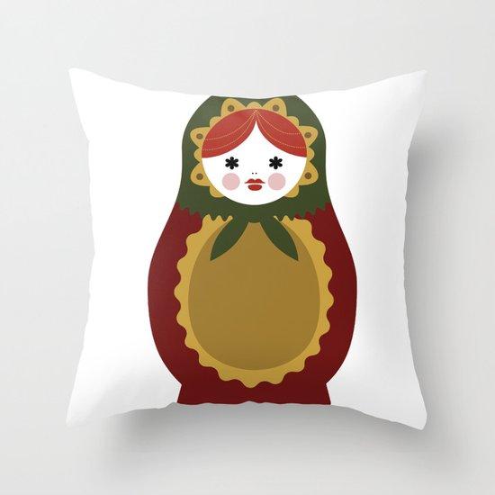 Matrioska-007 Throw Pillow