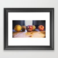 This halloween I want to be a pumpkin!!! Framed Art Print