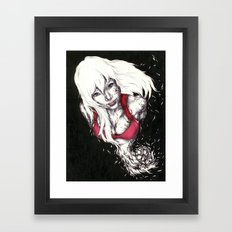 White Smile Framed Art Print