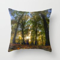 Painted woods Throw Pillow
