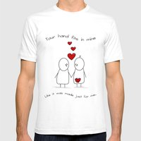 Hold My Hand  Mens Fitted Tee White SMALL