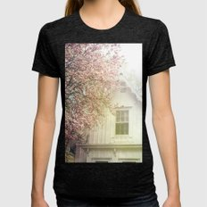 Cottage and Magnolias Womens Fitted Tee Tri-Black SMALL