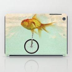unicycle goldfish 02 iPad Case
