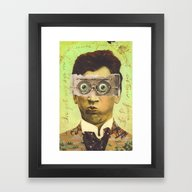 Framed Art Print featuring UNCLE CREEPY by Julia Lillard Art