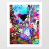 Boston Lights Remix Art Print