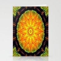 Citrus Slice Kaleidoscope Stationery Cards