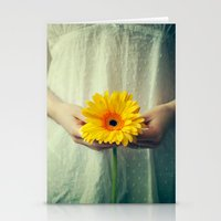 The Girl With The Daisy  Stationery Cards