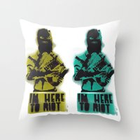 WRG - Weekly Riot Group Throw Pillow