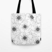 White Anemones Tote Bag