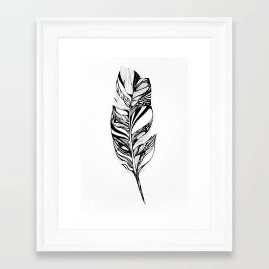 Feather - Lucidity Framed Art Print