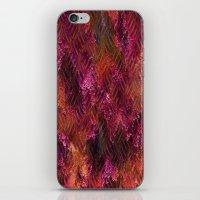 Imprinted Shocking Pink Metal Look iPhone & iPod Skin