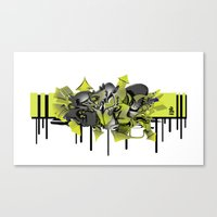 3D GRAFFITI - ESCAPE Canvas Print