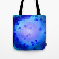 Aqua Stained Tote Bag
