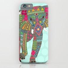 painted elephant aqua spot Slim Case iPhone 6s