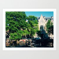 explore the city  Art Print