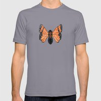 Moth Mens Fitted Tee Slate SMALL