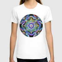 Mandala Psychedelic Art … Womens Fitted Tee White SMALL