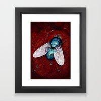 Green Bottle fly Framed Art Print