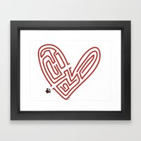 Labyrinth Of Love Framed Art Print