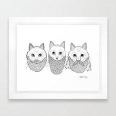 Cats With Beards Framed Art Print