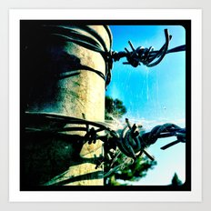 This is a fence. Art Print