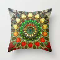 Sun Mandala 2 Throw Pillow