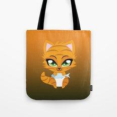 Cute little red kitten Tote Bag