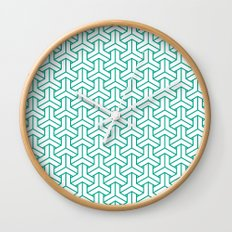 bishamon in emerald Wall Clock
