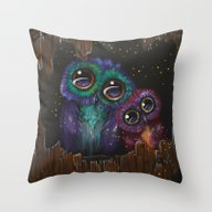Colorful Owl Love Throw Pillow