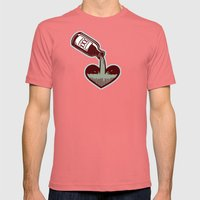 F. Scott Fitzgerald Mens Fitted Tee Pomegranate SMALL