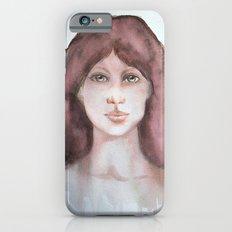 Watercolor smile iPhone 6 Slim Case