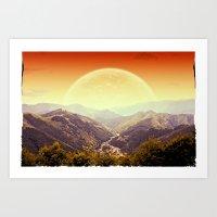 Highland Sunset  Art Print