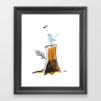 Nursery Bird Framed Art Print