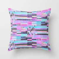 Pink Lines Of Chalk Throw Pillow
