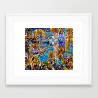 Gold, Glitter, Gems And … Framed Art Print