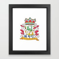 The Love Club Framed Art Print