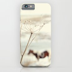 Winter Weeds + Blurry Horse iPhone 6s Slim Case