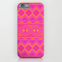 iPhone & iPod Case featuring Tribal Pattern (Pink & Orange) by christinarashel
