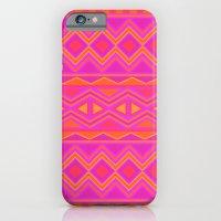Tribal Pattern (Pink & O… iPhone 6 Slim Case