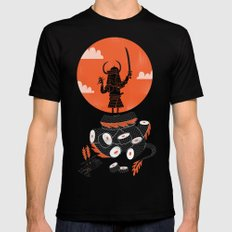 Samurai Sushi Mens Fitted Tee Black SMALL