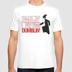 Every Day I'm Dumblin' SMALL White Mens Fitted Tee