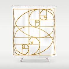 Golden Waves Shower Curtain