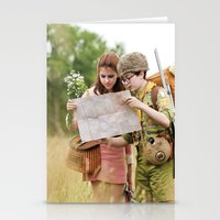 moonrise kingdom Stationery Cards featuring MOONRISE KINGDOM by VAGABOND