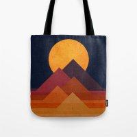 Full moon and pyramid Tote Bag