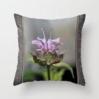 Bee Balm named Panorama Lavender Throw Pillow