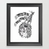 WSDR Framed Art Print