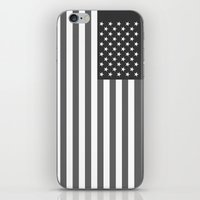 American flag - Gray scale version iPhone & iPod Skin