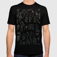 I Love Coffee Mens Fitted Tee Black SMALL