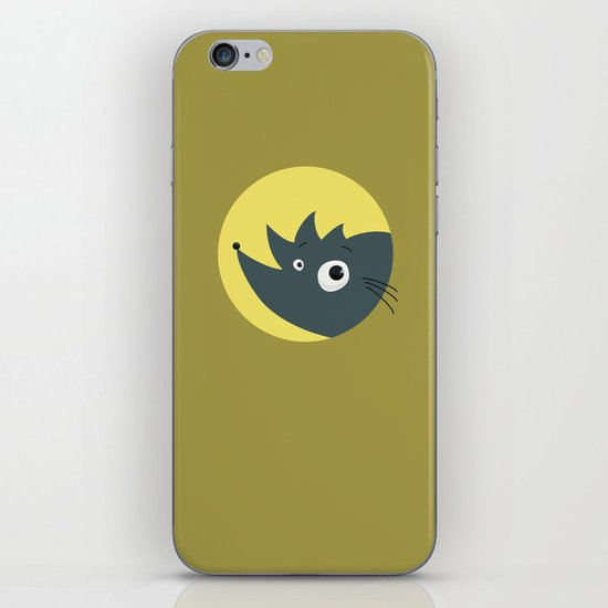 Cute Cartoon Hedgehog iPhone & iPod Skin